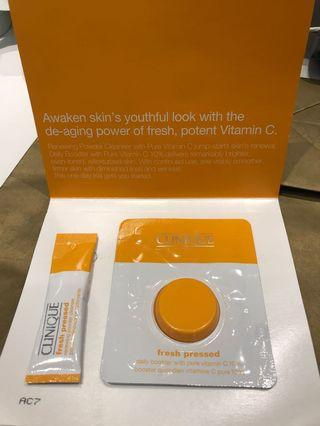 Clinique vitamin c cleanser and booster