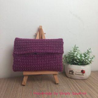 Starlight ✨Crochet Pocket Tissue Pouch ( Purple)