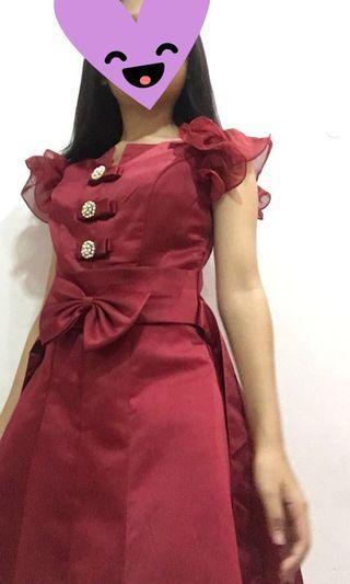 Red dress TURUN HARGA!!