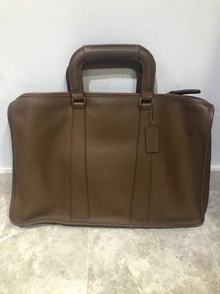 Coach Full Leather Laptop Bag
