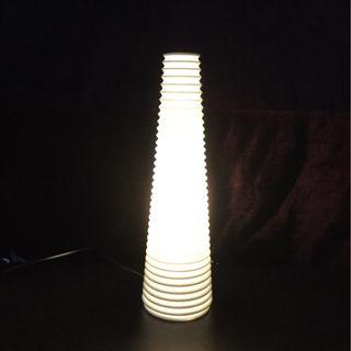 White ceramic table lamp by IKEA