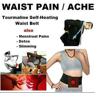 1 Pc Waist Tourmaline Magnetic Self Heating Back Pain Relief Brace Posture Lumbar Support Belt