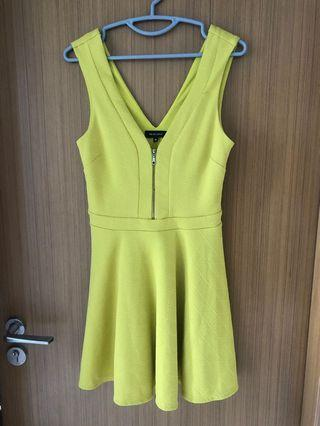 🚚 New Look Yellow Skater Dress