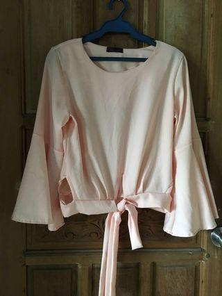 Pink Long Sleeve Blouse Imported from Thailand