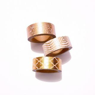 White and Gold Decorative Washy Tape
