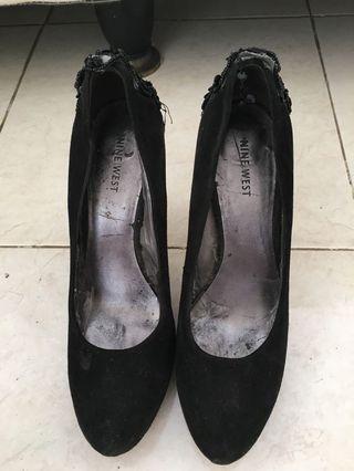 Black High Heels Bedazzled