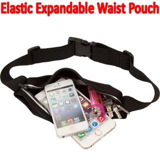 🚚 TSP014 Water Resistant Elastic Expandable Waist Hip Pouch / Belt Bag / Travel Money Wallet Pouch  for Sport Training Brand New Sales