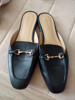 Oxford Backless Slipper Slip-ons Loafer Shoes