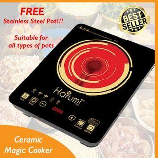 FREE DELIVERY! FREE POT! Induction Cooker / Induction Ceramic Cooker / Magic Cooker / Gas Stove