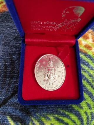 Archan Tiew/Diu Real Silver Ittipiso Phra Phom Be2557