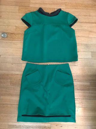 🚚 Two-piece emerald green set