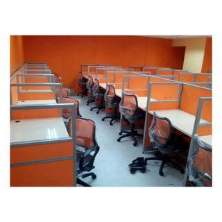 customize office cubicle full fabric with glass