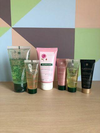 René Furterer & Klorane hair care samples
