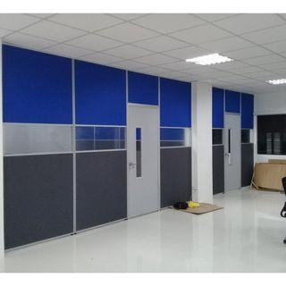 customize office partition floor to ceiling