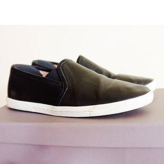 Joie Leather Slip on Sneakers, Black, Size 37.5. genuine leather. Originally 190usd