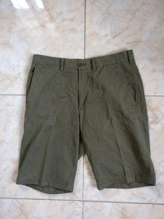 Uniqlo Olive Green Shorts