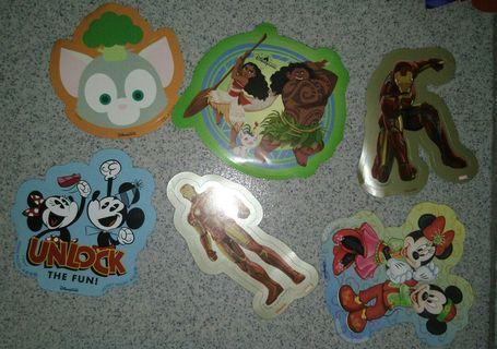 迪士尼貼紙 (Z)共6張