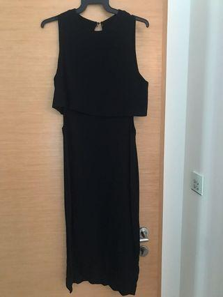 Zara Black Dress with cut-out side details