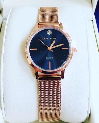 Anne Klein Diamond Mesh Watch