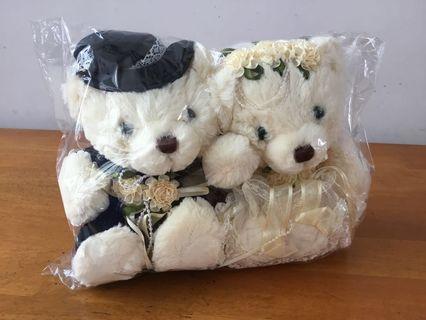 小熊結婚公仔一對