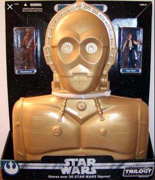 Star Wars 星球大戰 C-3PO Figures Carry Case 收藏盒 包 2個 人物 Han Solo 及 Chewbacca