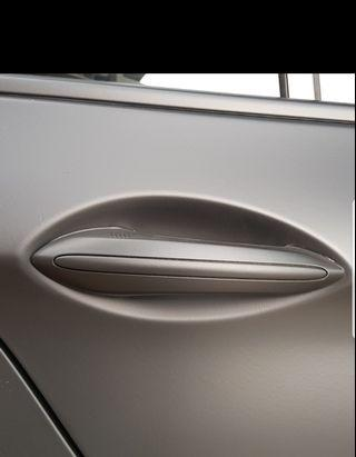 Liquid wrap your door handle with Plastidip