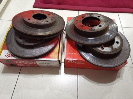 Original / Genuine Front & Rear Waja Disc Rotor
