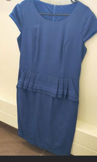 🚚 Blue Office Dress
