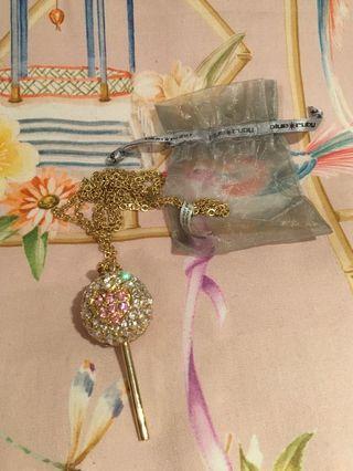 Blue Ruby Swarovski Necklace