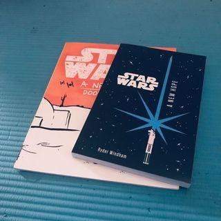 Star Wars A New Hope Doodle book and Novel