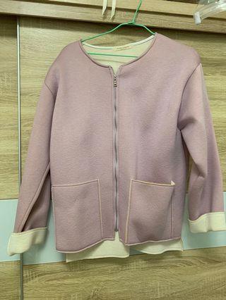 粉紫色太空外套