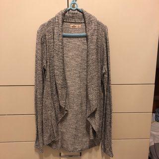 Hollister 灰色開襟衫
