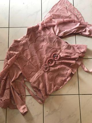#BAPAU Set Brukat Dusty Pink