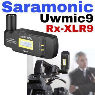 Saramonic RX-XLR9 Dual-Channel Wireless Plug-On Receiver for UwMic9 System