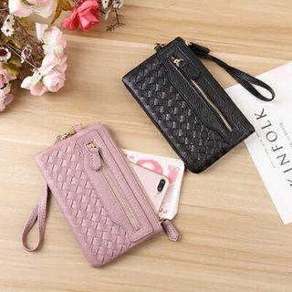💕現貨💕 韓版 錢包 女用 長款 學生 編織 拉鏈 錢夾 大容量 手拿包 手機包 多卡位 卡包 零錢包 隨身包 中夾