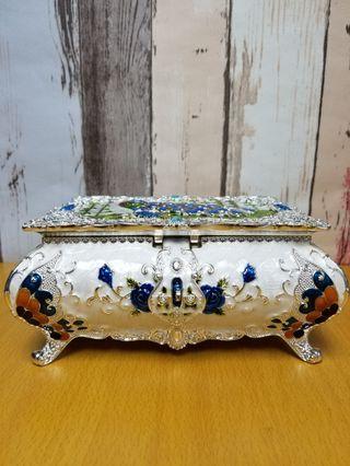 孔雀竹葉手飾盒▪銀