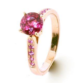 AUTIUM PINK SOLITAIRE ENGAGEMENT RING   2018-115