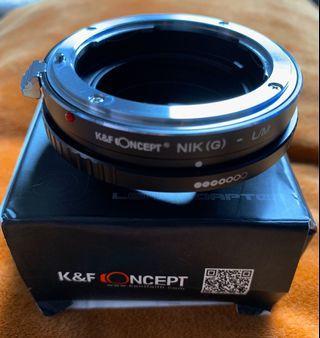 Lens Adapter (Nikon G lens to Leica M Mount)