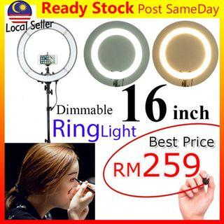 16inch 40cm LED Ring Light Dim Studio Lighting Make Up Lampu Live