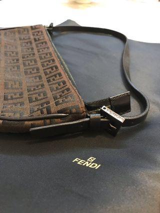 💯 Authentic Fendi Zucca FF Monogram Pochette Handbag