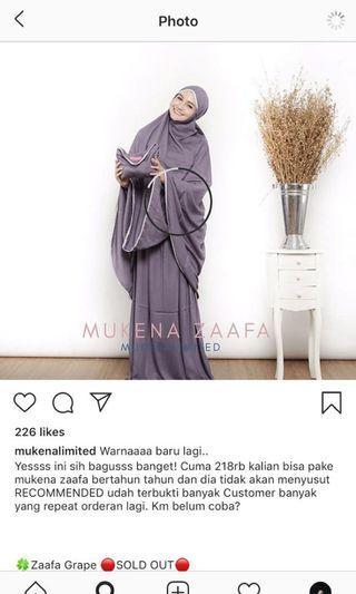 Mukena zaafa dari mukena limited