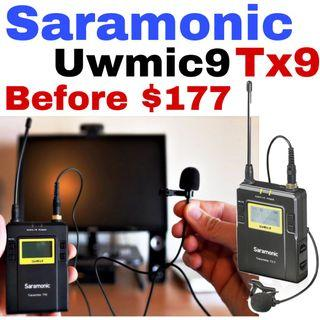 Limited offer Saramonic TX9 96-Channel Digital UHF Wireless Bodypack Transmitter with Lavalier Mic (514 to 596 MHz)