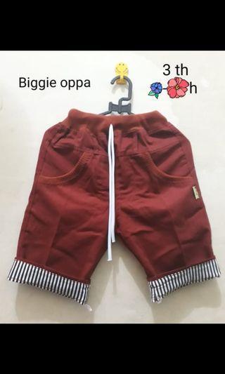 Celana Pendek biggie oppa #BAPAU GIVEAWAY