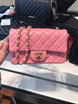 Chanel MINI Rectangle Pink