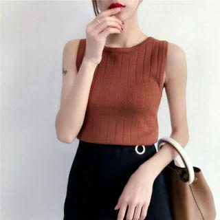 [PO] ULZZANG KNITTED CAMISOLE TOP