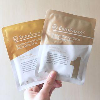 [包郵](1set)Eurobeaute 炫金水療再生面膜 Golden Reboost Salon Remodeling Mask (60g+15g)
