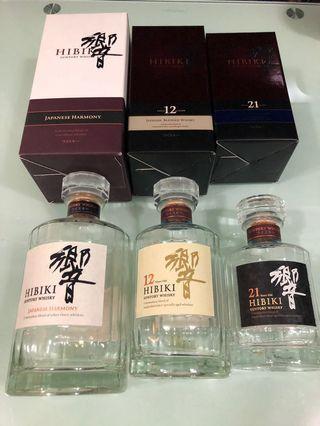 Hibiki 響 12 17年份 絕版 吉樽 威士忌 日本酒清酒