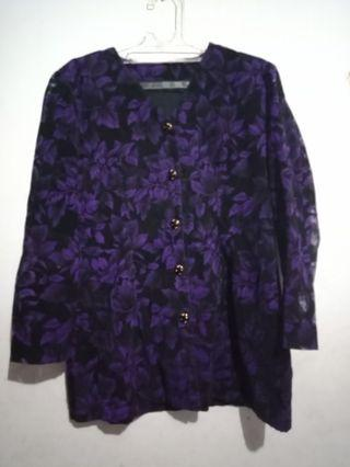 Purple blouse beludru