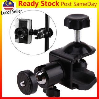 1/4' Screw Clamp Clip Ball Head Holder Stand Ball Head Mount Camera