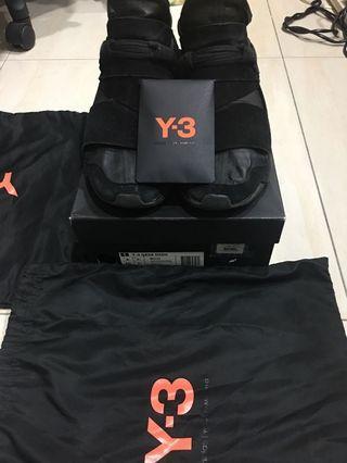 Y3 QASA HIGH麂皮 黑 US8 Y-3